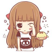 Centilia's Friends : Mocca – LINE stickers Cute Couple Comics, Cute Couple Cartoon, Cute Love Cartoons, Fille Anime Cool, Cute Anime Chibi, Korean Stickers, Cute Couple Drawings, Cute Love Gif, Kawaii Stickers