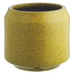 TRURO Yellow ceramic planter 33 x Home Accessories, The Truro yellow ceramic planter is a distinctive contemporary design with a smooth reactive glaze that gives it a speckled finish.The large, fros. Garden Planters, Planter Pots, Potted Palms, Contemporary Planters, Contemporary Design, Garden Furniture Design, Truro, Pottery Designs, Ceramic Planters
