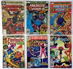 The Fantastic Four Lot of 6 Bronze/Copper Age 1980s Marvel Comic Books: 188, 213, 215, 218, 222, 286