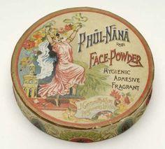 Vintage Dressing Rare Wartime Phul Nana Face Powder Box by J. Vintage Vanity, Vintage Tins, Vintage Antiques, Powder Puff, Face Powder, Vintage Romance, Vintage Beauty, Vintage Dressing Tables, Perfume Packaging