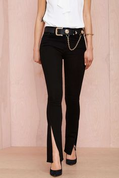 Nasty Gal Denim - Slit Personality Skinny | Shop What's New at Nasty Gal