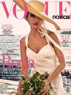 Blanca Padilla featured on the Vogue Novias cover from February 2017
