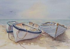 My Boats Plans - . Master Boat Builder with 31 Years of Experience Finally Releases Archive Of 518 Illustrated, Step-By-Step Boat Plans Watercolor Landscape, Landscape Paintings, Watercolor Art, Boat Drawing, Sailboat Painting, Boat Art, Small Boats, Boat Plans, Painting Techniques