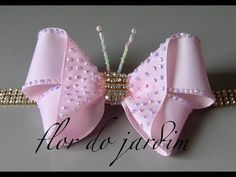 Laço Borboleta com strass -DIY - Butterfly Loop - YouTube