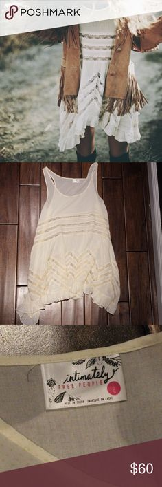 Free People Dress Free People slip dress, like new, super cute. it's a L size but it fits a M or S too if you wear it like a comfortable dress, even like a longer shirt :) Free People Dresses Mini