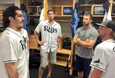 Bolts and Rays (Brian Boyle, Bish, Steven Souza Jr. of the Tampa Bay Rays, and Steven Stamkos)