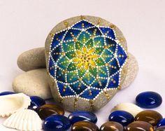 Mandala stone Make your wish hand painted stone