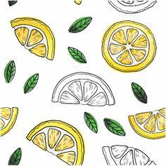 Bullet Journal Writing, Bullet Journal Ideas Pages, Bullet Journal Inspiration, Fruit Doodle, Lemon Drawing, Logo Animal, Fruit Sketch, Lemon Art, Fruits Drawing