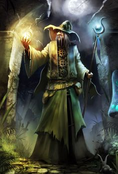 Amadeus the Wizard #fantasy #art. Artist unknown.If you are the artist or know them, please tell me so I can attribute the picture.