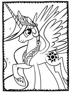 Mewarnai Gambar My Little Pony Yang Cantik Care Bears Pinterest