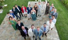 Group photo of weddi