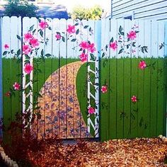 paint and decorating ideas for fences, yard decorations