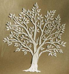 Raised Plaster Miniature Tree Stencil by VictoriaLarsenDecor, $19.99