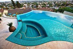 this pool looks like heaven.