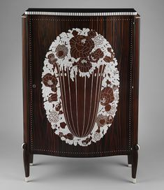 État (State) cabinet, 1926 Émile–Jacques Ruhlmann (French, 1879–1933) Macassar ebony, amaranth, ivory; H. 50 1/4 in. (127.6 cm), W. 33 1/4 in. (84.5 cm), D. 14 in. (35.6 cm)