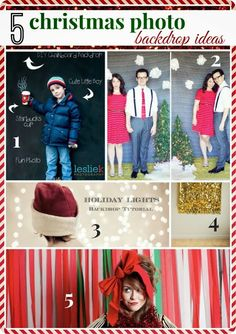 5 christmas photo backdrop ideas - Our Fifth House