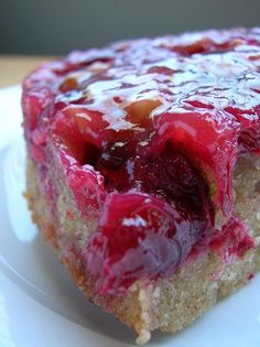 Cranberries - Cranberry UpSide Down Cake - Spotlight On: Baking: From My Home to Yours