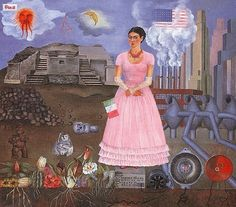 """Self Portrait Between the Border of Mexico and the United States - Frida Kahlo - """"Diego Rivera and Frida Kahlo in Detroit"""" at Detroit Institute of Arts - April 2015"""