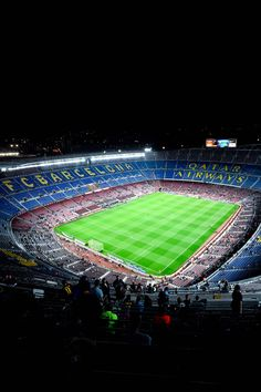 A general view of the stadium prior to the La Liga match between FC Barcelona and Celta de Vigo at Camp Nou on November 1, 2014 in Barcelona, Catalonia.
