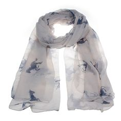 LADIES CUTE  PURPLE TEAL  HORSE PONY PRINT LARGE SOFT SCARF WRAP COVER UP