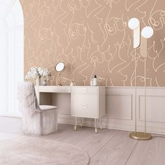 Modern Interior Design, Wallpaper & Removable Decals - Drop it Modern
