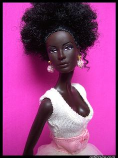 First Black Barbie doll, introduced in 2009, that had African features