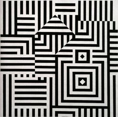 Victor Vasarely was a Hungarian French artist whose work is generally seen as aligned with Op-art. His work entitled Zebra, created by Vasarely in the is considered by some to be one of the earliest examples of Op-art. Vasarely died in Paris in Victor Vasarely, Illusion Kunst, Illusion Art, Optical Illusion Quilts, Optical Illusions, Quilt Modernen, Kinetic Art, Geometric Art, Geometric Quilt