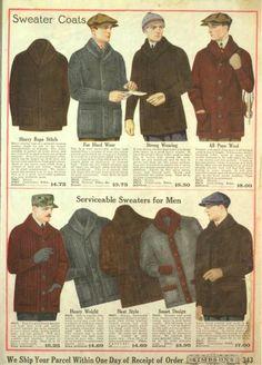 1919 mens winter sweaters. edwardian