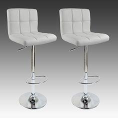 EUGAD BS9108 Design Barhocker , 2er Set , stufenlose Höhenverstellung , verchromter Stahl , Antirutschgummi , pflegeleichter Kunstleder , gut gepolsterte Sitzfläche , Weiss EUGAD http://www.amazon.de/dp/B00HTTZYT2/ref=cm_sw_r_pi_dp_1H.Yub1Y4X7WT