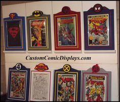 """Looking for a Comic Book Frame for a specific Title, Series, or Publisher? Checkout our """"Premier Series"""" Custom Comic Book Display Frames. Hand Crafted Polystyrene, Acrylic Coated, Custom Painted (with colors YOU choose) Comic Book Display Frames. You name it, we'll make it! CustomComicDisplays.com"""