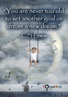 You are never too old to set another goal or dream a new dream. #Quotes #Positivity https://www.focusfied.com