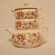 SALE 20% OFF Vintage Old Foley Stack Tea Set Floral Fantasy Pattern James Kent Ltd ...