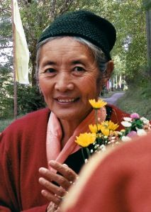 Khandro Tsering Chödrön (1929-2011), the spiritual wife of Jamyang Khyentse Chökyi Lodrö (1893-1959), was universally acknowledged as one of the foremost female practitioners of Tibetan Buddhism of recent times and was considered to be an emanation of Shelkar Dorje Tso (one of Guru Rinpoche's consorts).