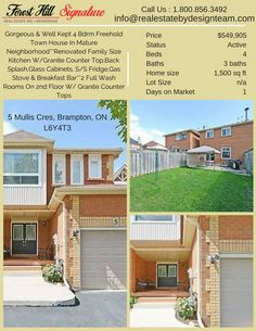 28 best homes for sale in brampton images on pinterest in 2018 upgraded windows patio doorpot lights in the kitchendry walled basementattached only on one side and linked by garage on other solutioingenieria Gallery