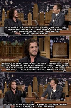 Kit Harington on the Tonight Show with Jimmy Fallon I don't watch Game of Thrones but this was to funny to pass up Game Of Thrones Witze, Game Of Thrones Funny, Kit Harrington, Jimmy Fallon, Crush Memes, Game Of Throne Lustig, Haha, Got Memes, Khal Drogo