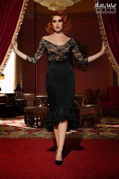 Flamenco Mermaid Skirt in Black