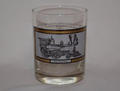 "Vintage Avon Glass ""The General"" Locomotive Civil War Train 22K Gold Trim"