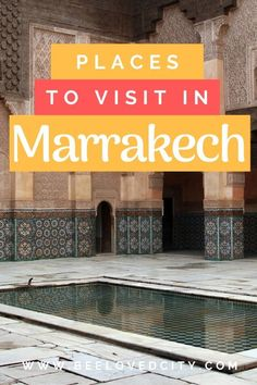Are you planning a trip to Marrakech, Morocco? Wondering what to do in Marrakech and where to eat? Check out our list with the top things to do in Marrakech, Morocco. Visit Marrakech, Marrakech Travel, Visit Morocco, Morocco Travel, Africa Travel, Marrakech Morocco, Ancient Greek Architecture, Gothic Architecture, Travel Around The World