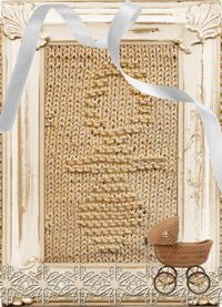 Knitted Washcloth Soother