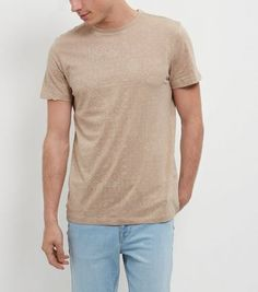 Camel Paisley Print Short Sleeve T-Shirt - New Look
