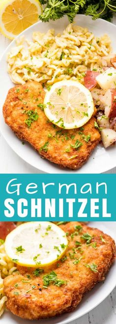 This Authentic German Schnitzel Recipe has been passed down for generations. Use this same method for pork schnitzel, veal schnitzel (weiner schnitzel), or chicken schnitzel. #stayathomechef #Germanfood #pork