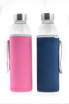 Glass Water Bottle By Bromvital, 20 Ounces, Portable, Insulated Thermal Sleeve