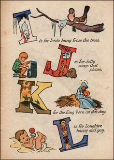 Walt Kelly Christmas Alphabet I-L