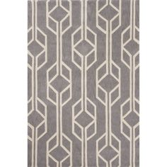 Hand-Tufted Geometric Pattern Grey/ Grey Area Rug (7'6 x 9'6) - Overstock Shopping - Great Deals on 7x9 - 10x14 Rugs
