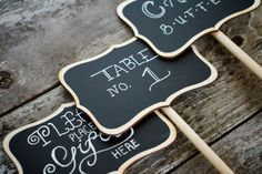 Blackboard signs - tables, guest book table, candy buffet