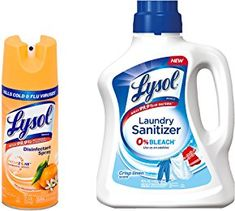 Lysol Disinfectant Spray + Laundry Sanitizer Bundle