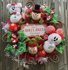 Christmas Wreath Snowman Wreath Disney Christmas by BaBamWreaths