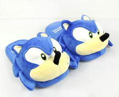 Sonic The hedgehog Adult Plush Slippers