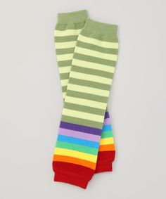 Look at this Green & Rainbow Organic Leg Warmers on #zulily today!