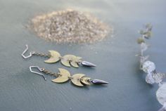 the Crescent Dagger earring by foxtailboutique on Etsy